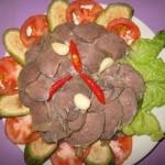 Thịt đà điểu ngâm giấm