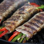 Thịt đà điểu cuộn rau mầm
