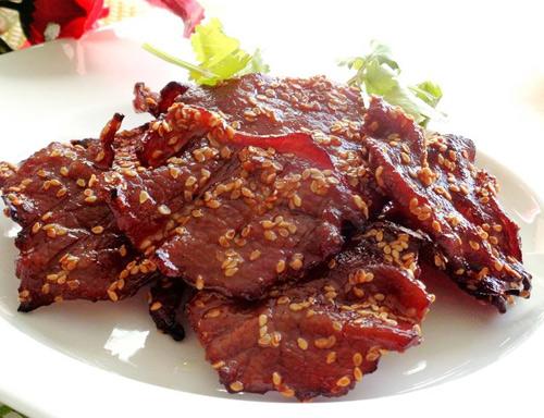 thịt đà điểu khô